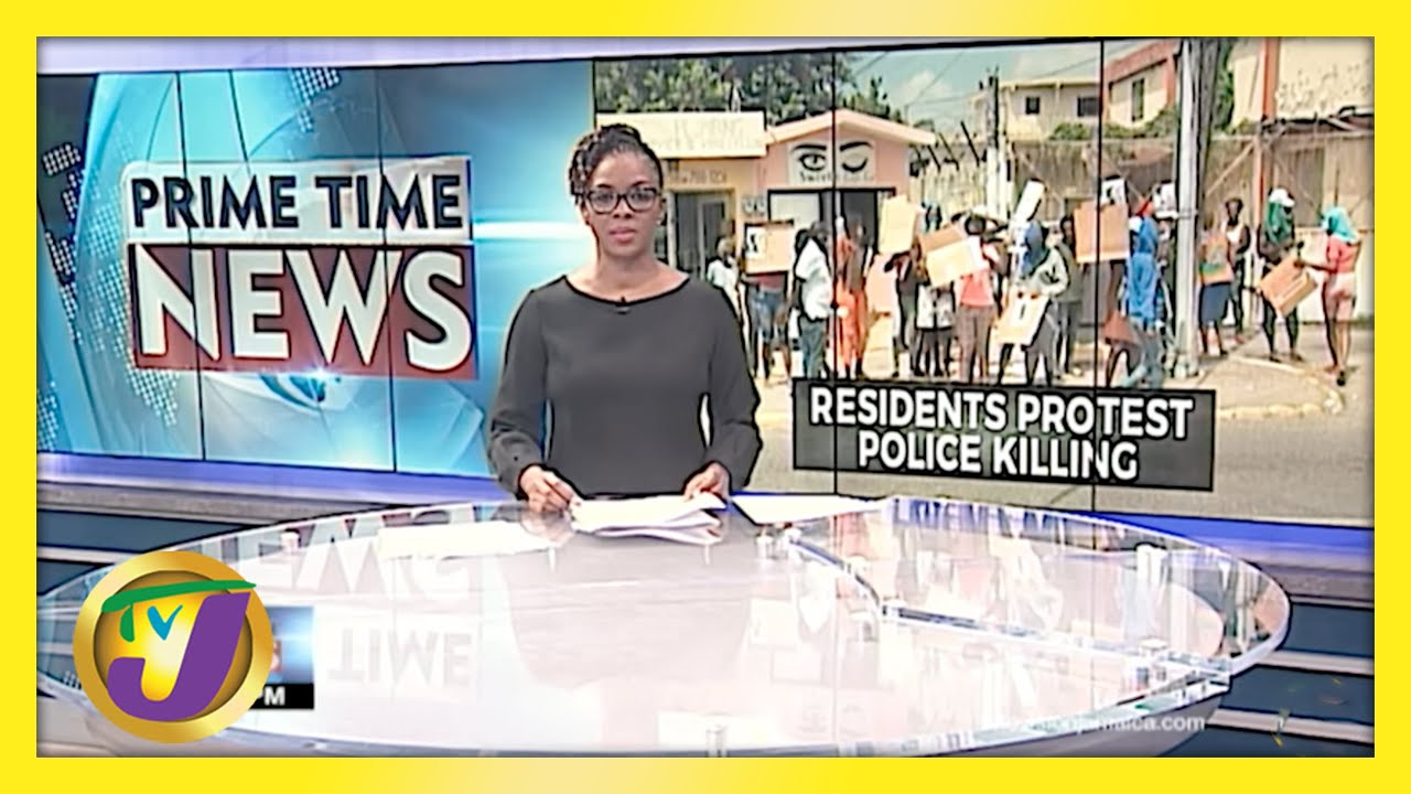 Residents Protest Police Killing in Red Hills Kingston, Jamaica | TVJ News - April 23 2021 1