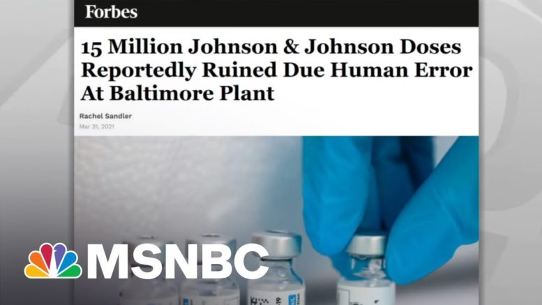 U.S. Maintains Robust, Record Breaking Covid Vaccination Rate   Rachel Maddow   MSNBC 1