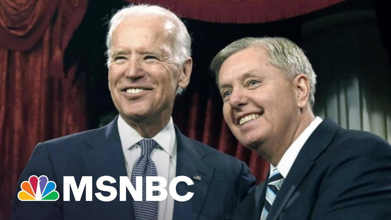 Graham Claims His Old Friend Biden Is Destroying America | The 11th Hour | MSNBC 1