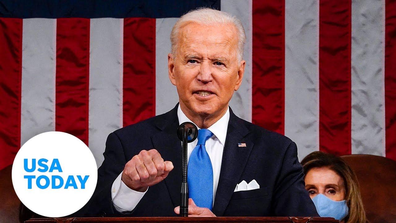 President Biden addresses Congress marking 100 days in office   USA TODAY 1