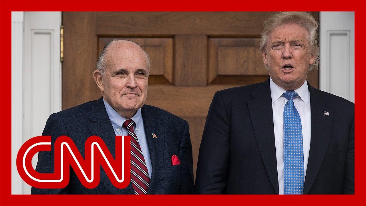 Trump responds to Giuliani raid 1