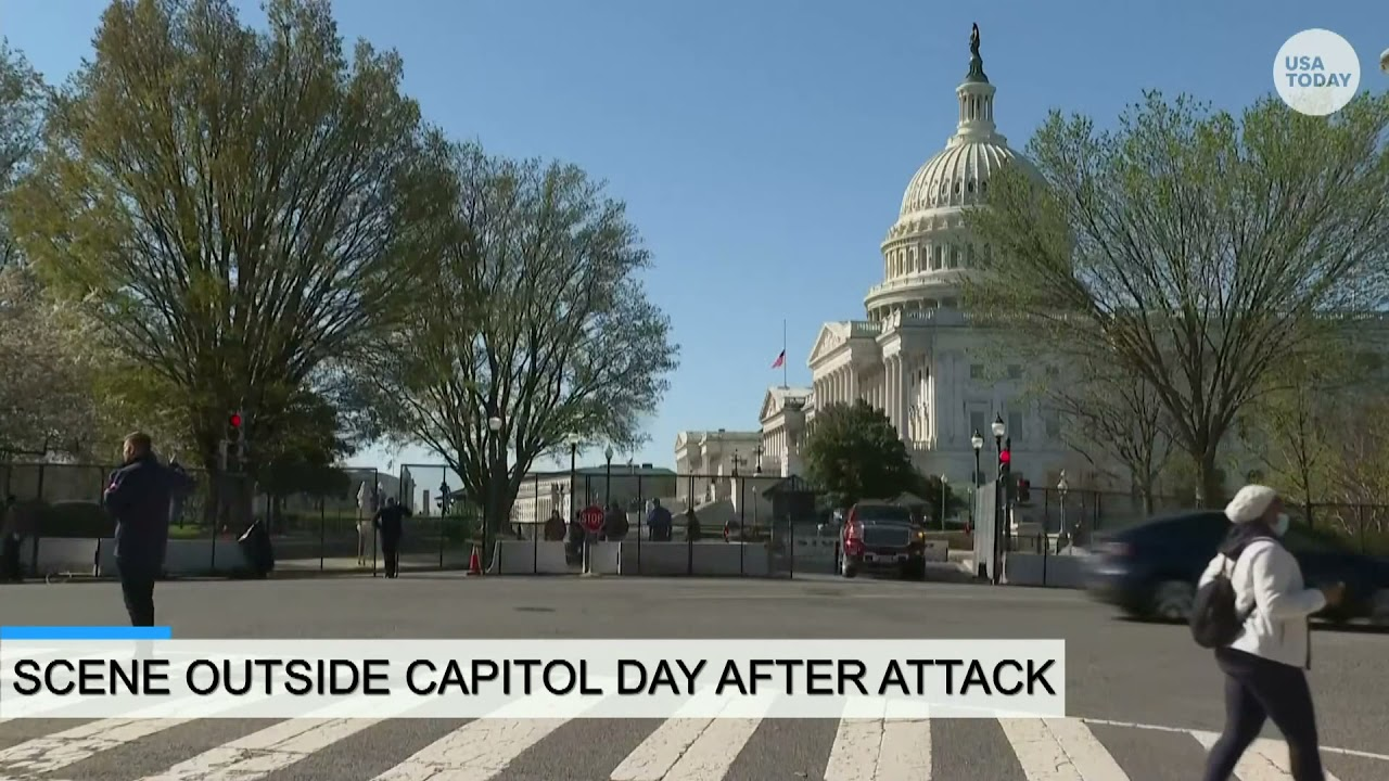 Scene outside Capitol after man rammed into barrier killing an officer on Friday | USA TODAY 1