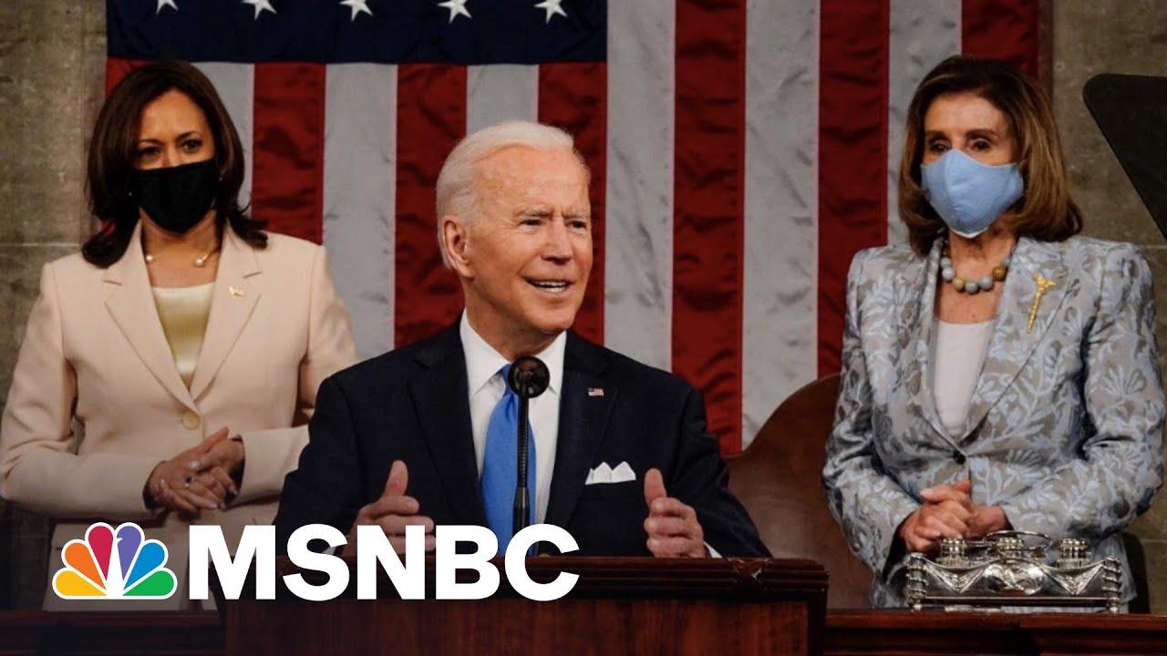 Biden Lays Out Sweeping Agenda In Speech To Congress   MSNBC 1