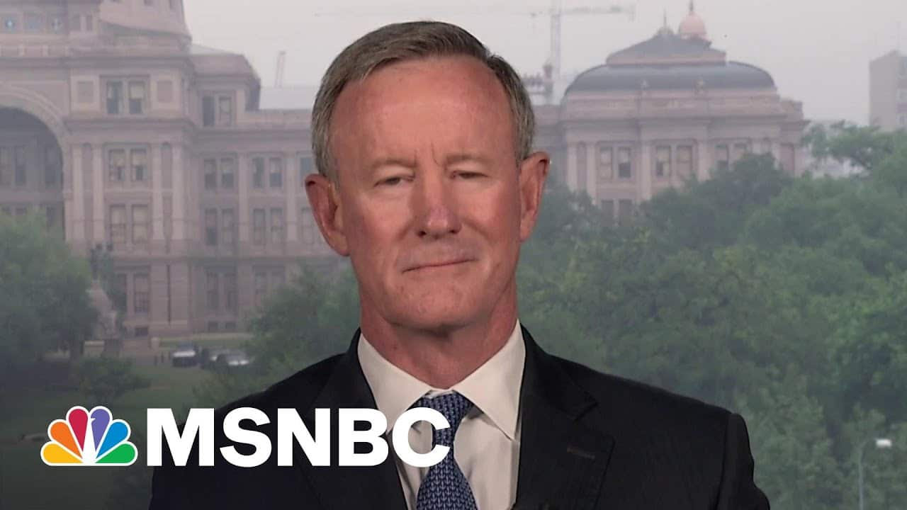 Retired Adm. McRaven Explains Decision Process For Afghanistan Withdrawal | MSNBC 1