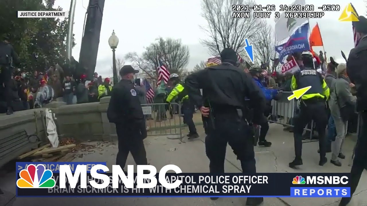 New Body Cam Footage From Jan. 6th Assault On Capitol   MSNBC 1