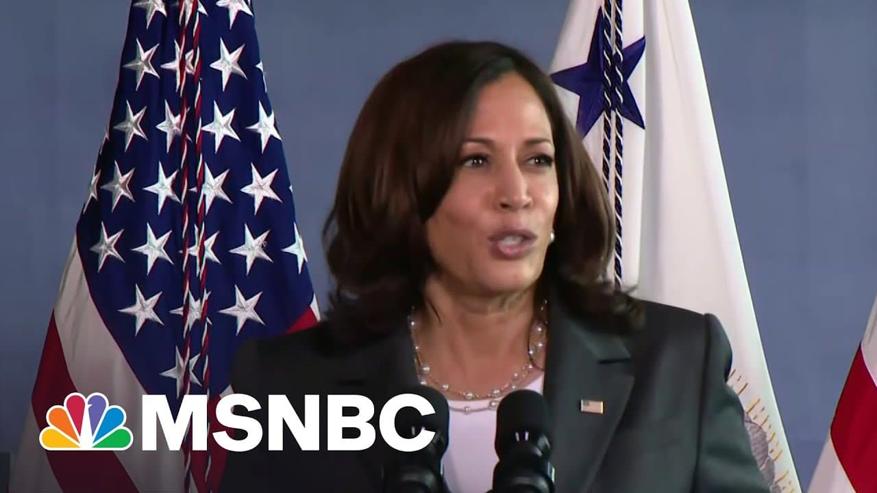 VP Harris Touts First 100 Days At Baltimore Vaccination Site | MSNBC 9