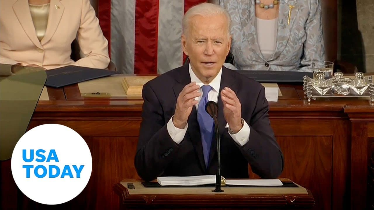 Biden addresses Congress in historic night with Pelosi and VP Harris | USA TODAY 2