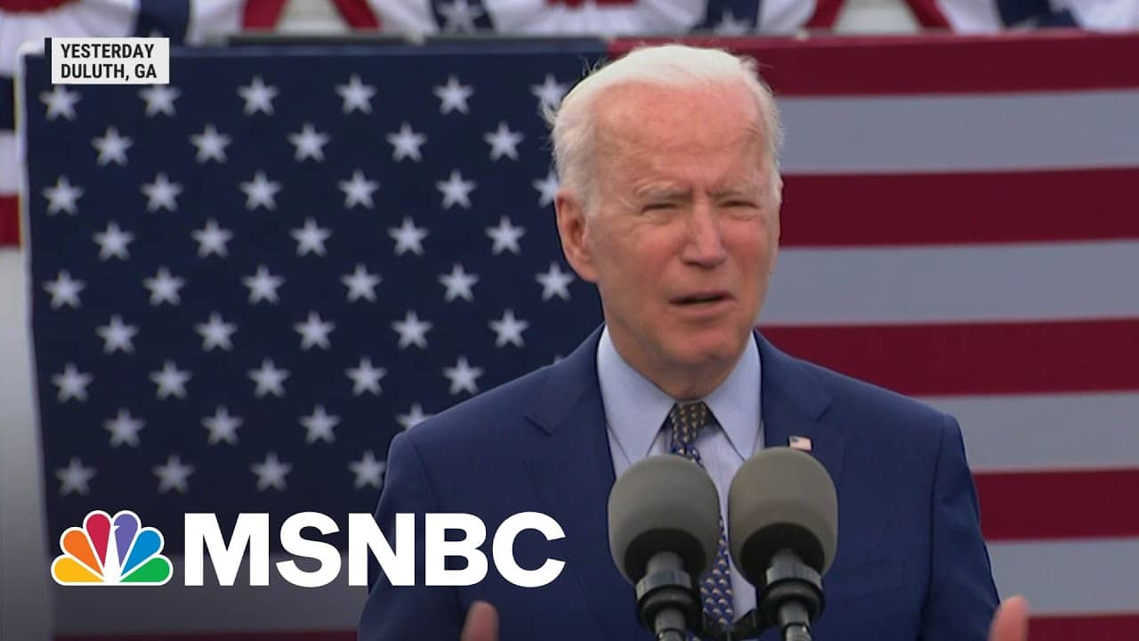 President Biden Marks 100th Day In Office With Visit To Georgia   Morning Joe   MSNBC 3