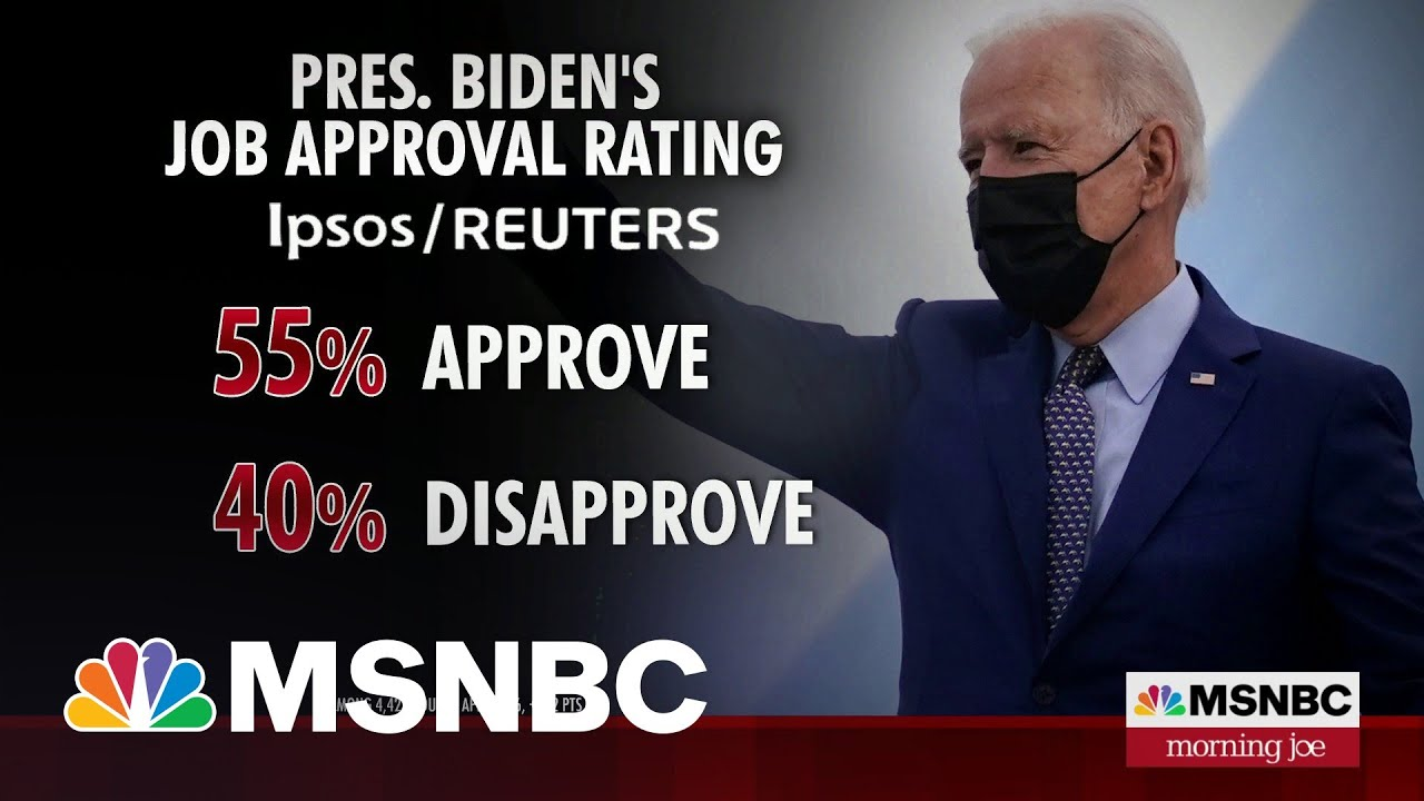 Biden Approval Stands At Over 50 Percent In New Polling   Morning Joe   MSNBC 1