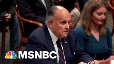 Giuliani Was Warned By FBI He Was Target Of Russian Disinformation Campaign | Hallie Jackson | MSNBC 10