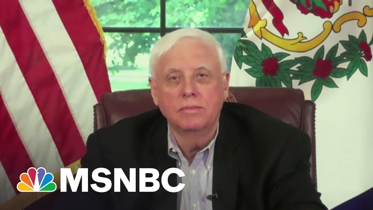 Full Interview: Gov. Justice On West Virginia Vaccination Efforts, Transgender Athletes Bill | MSNBC 1