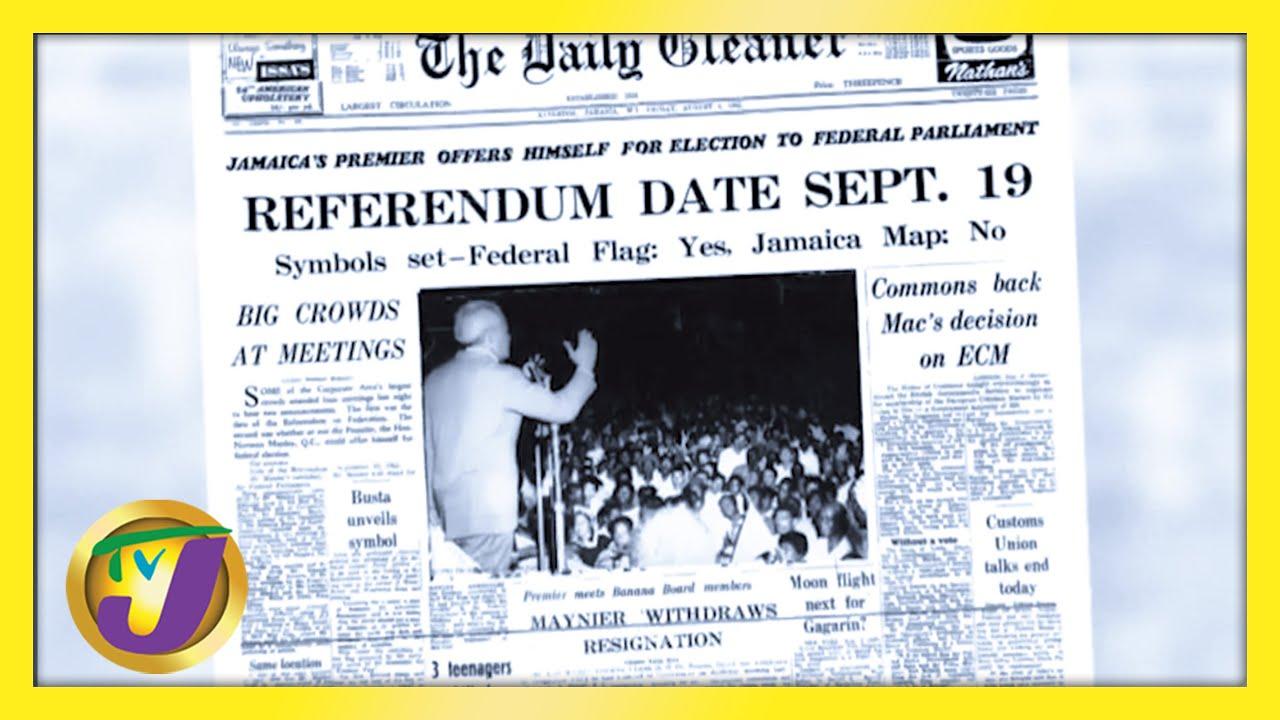 Jamaica's History | Norman Manley Announce Referendum Date | Jamaica Labour Party Logo 1