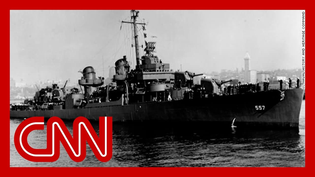 Watch video of WWII Navy ship found at bottom of Philippine Sea 9