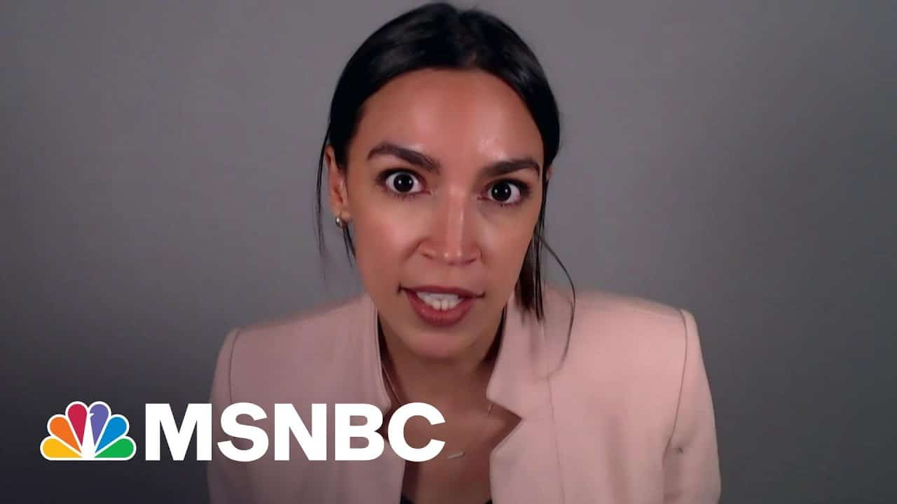 AOC Reacts To Biden Infrastructure Plan, Pitches Bigger Investment   Rachel Maddow 6