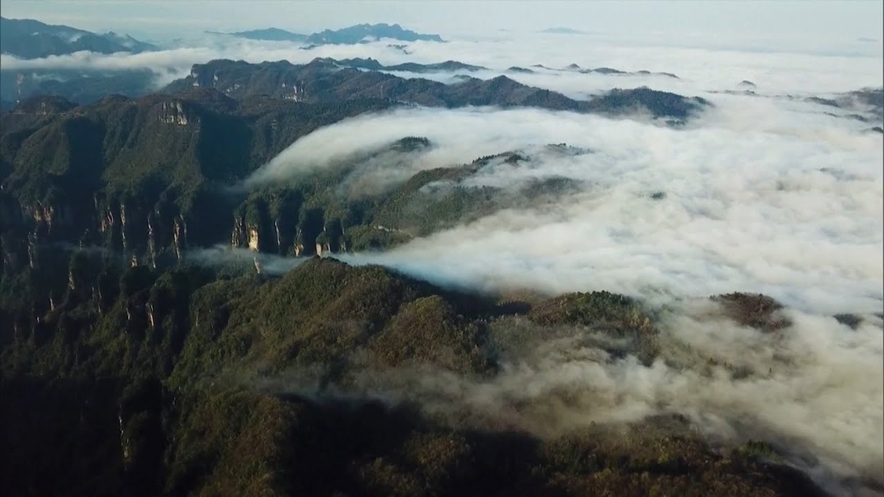 'Sea of clouds' form over scenic mountains in China 5