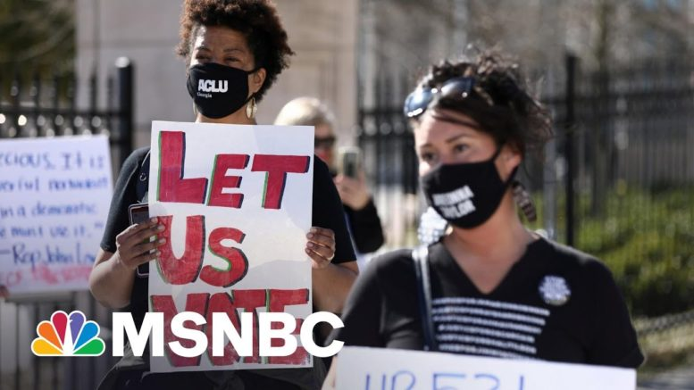 Corporate Heavyweights Stand Up, Speak Out On Voting Rights | Rachel Maddow | MSNBC 1