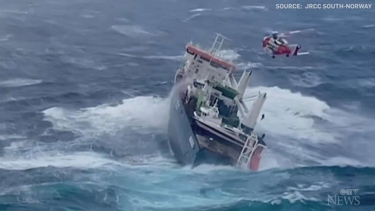 Ship adrift off the coast of Norway at risk of sinking 7