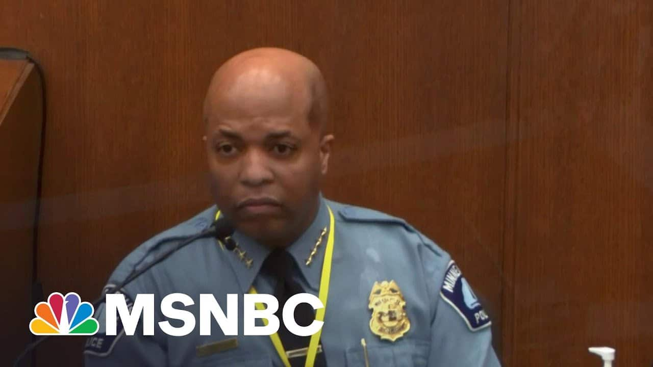 Minneapolis Police Chief Said Chauvin Violated Policy   The ReidOut   MSNBC 1
