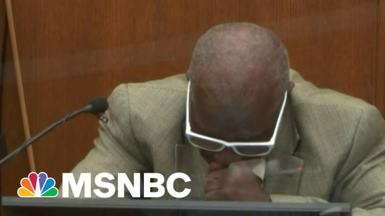 Bystander Who Told Floyd To Comply With Police Breaks Down On The Stand | Morning Joe | MSNBC 1