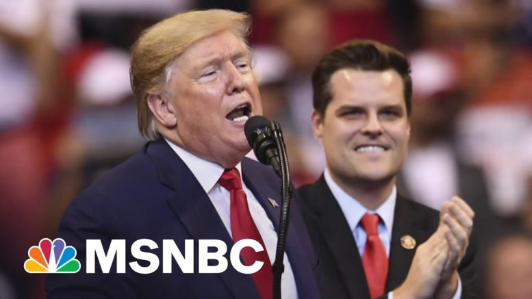Is Matt Gaetz Expecting A Loyal Trump To Stick Up For Him? | The 11th Hour | MSNBC 1