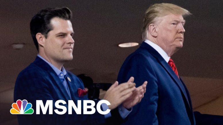 Gaetz Wrote About Getting Calls From Trump While Having Sex   The 11th Hour   MSNBC 1