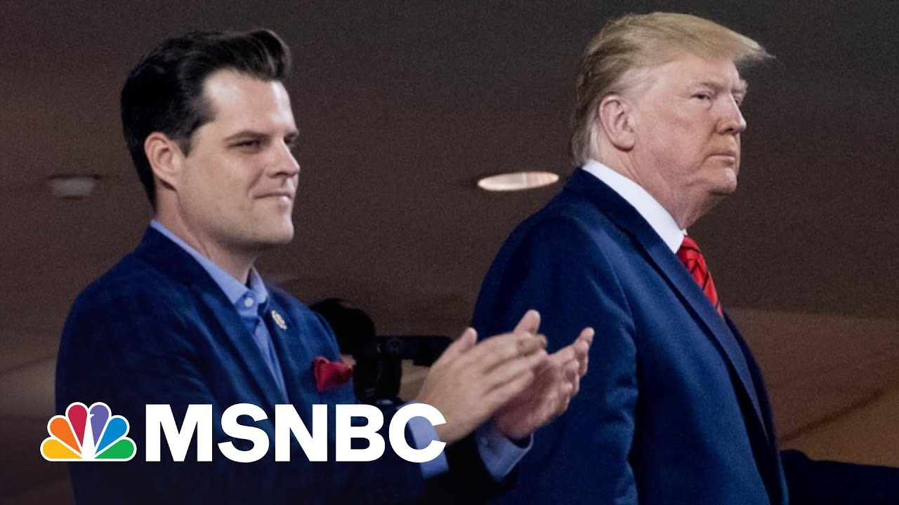 Gaetz Wrote About Getting Calls From Trump While Having Sex   The 11th Hour   MSNBC 6