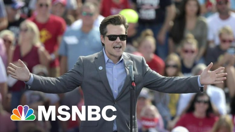 Rep. Gaetz Said To Have Sought Blanket Pardon From Trump WH   Morning Joe   MSNBC 1