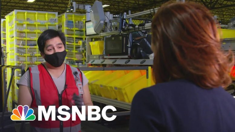 An Inside Look At An Amazon Warehouse And The Impact On The U.S. Economy | Stephanie Ruhle | MSNBC 1