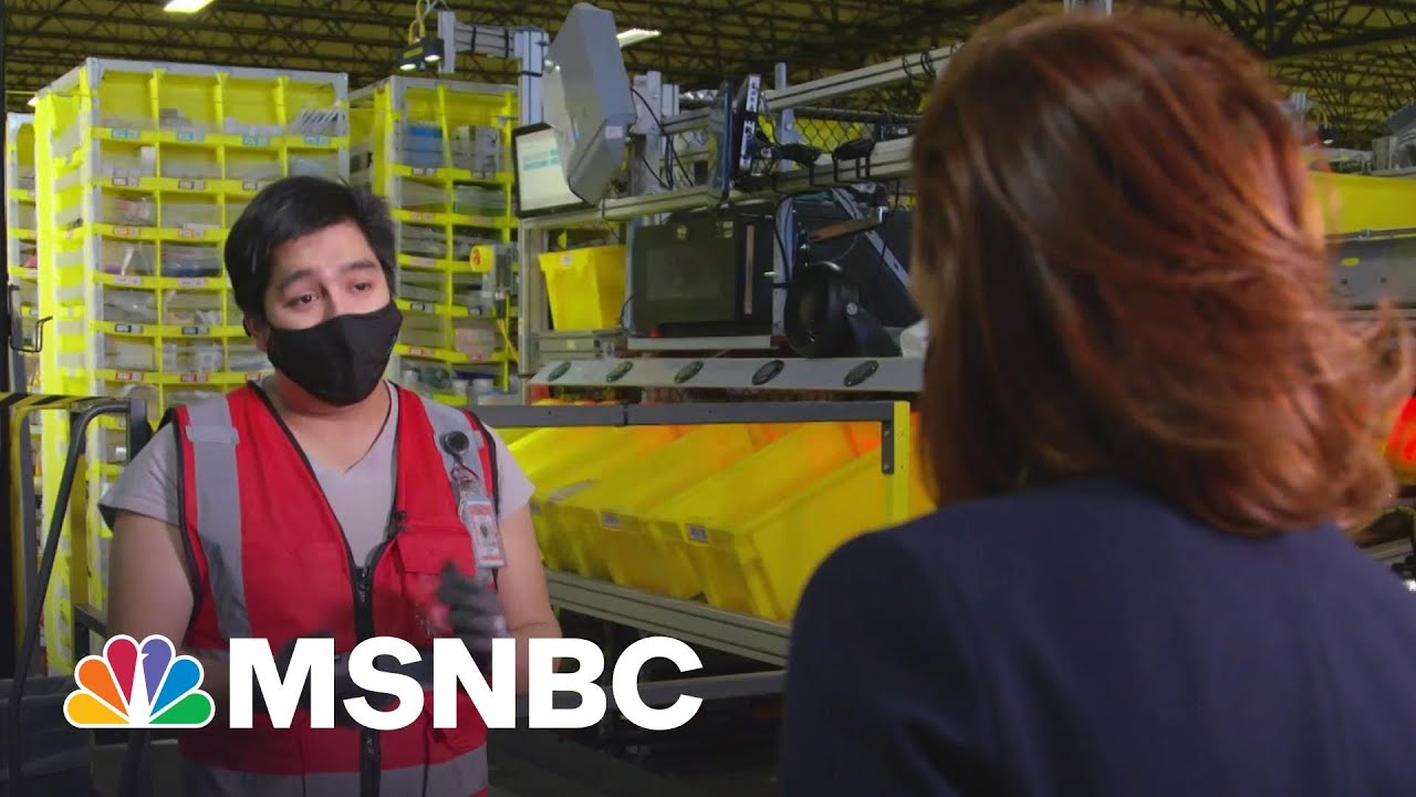 An Inside Look At An Amazon Warehouse And The Impact On The U.S. Economy | Stephanie Ruhle | MSNBC 2