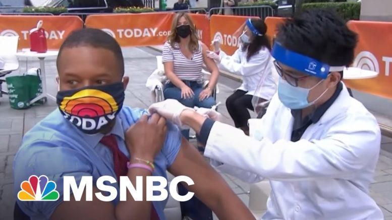 Craig Melvin Gets Vaccinated Live | Craig Melvin | MSNBC 1