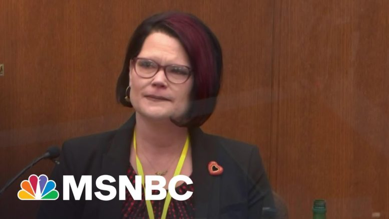 'Can I Pray With You?': George Floyd's Girlfriend Tearfully Recounts First Time They Met   MSNBC 1