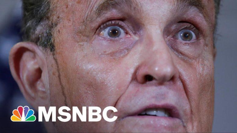 Trump, Giuliani Lies Are Basis Of New Georgia Voting Law, Republican Lt. Gov. Admits | Rachel Maddow 1