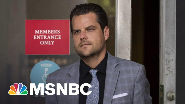 Feds Probe Gaetz's Bahamas Travel For Possible Trafficking   The 11th Hour   MSNBC 1