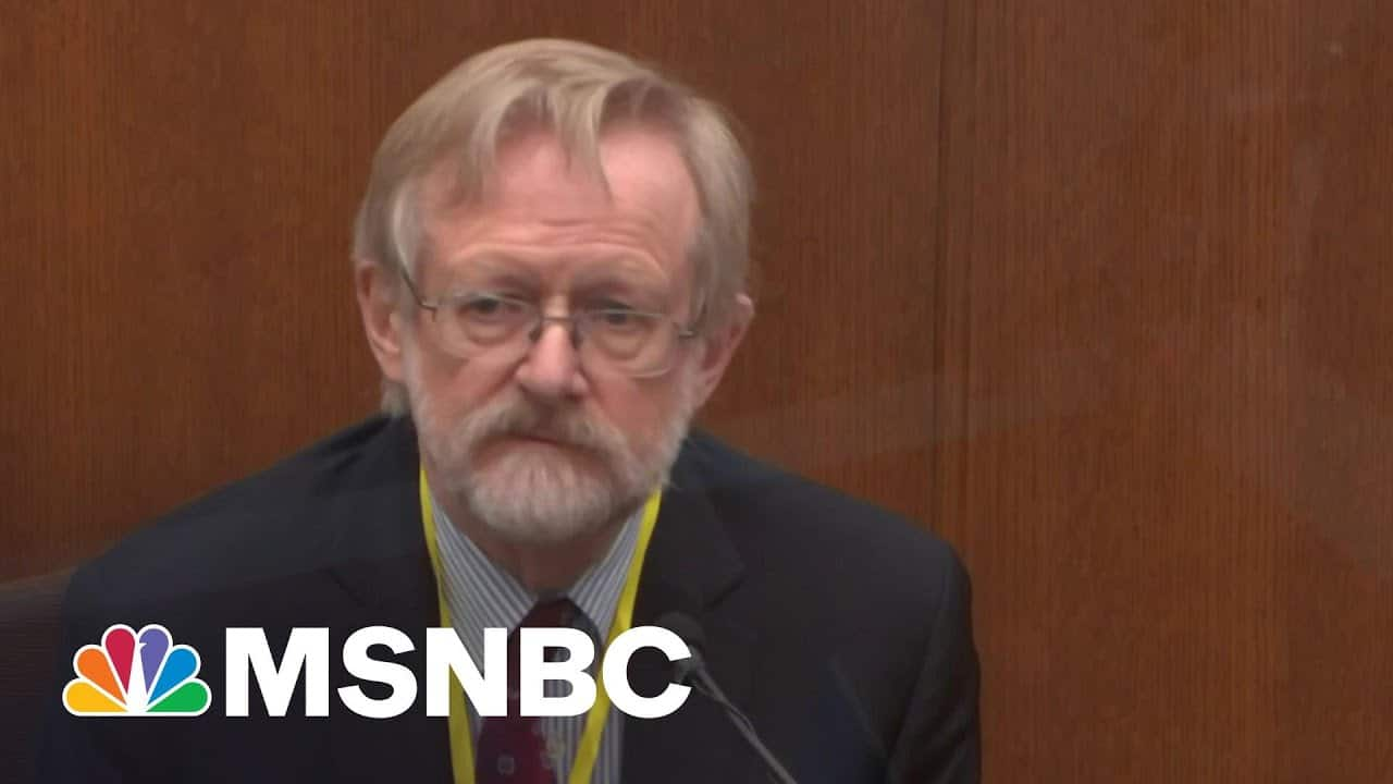 Pulmonologist: George Floyd Died From 'Low Level Of Oxygen'   MSNBC 8