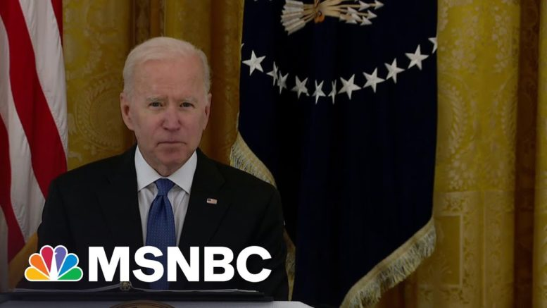 President Biden Holds First WH Cabinet Meeting After Unveiling $2 Trillion Infrastructure Plan 1