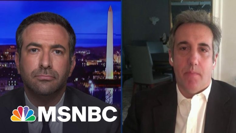 Trump Going Down? NY DA's Key Witness Cohen Says Trump's In Big Trouble | The Beat With Ari Melber 1