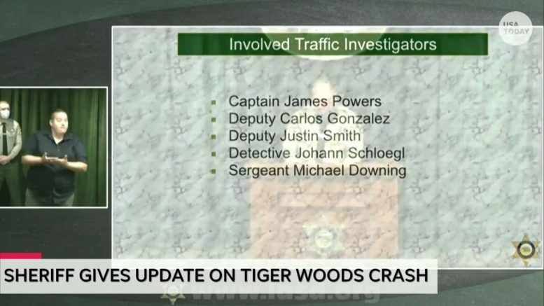 Los Angeles County sheriff gives update regarding cause of Tiger Woods crash | USA TODAY 1