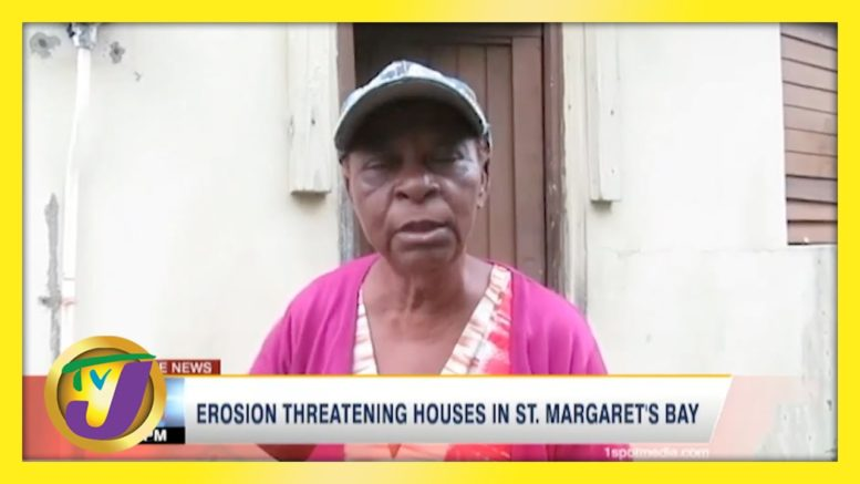Erosion Threatening House in St. Margaret's Bay, Jamaica | TVJ News - April 6 2021 1