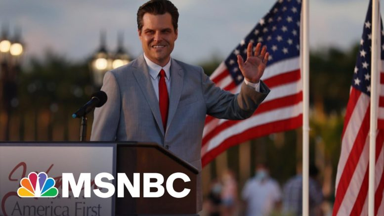 Defiant Gaetz Tells Women's Group He Won't Be Intimidated | The 11th Hour | MSNBC 1