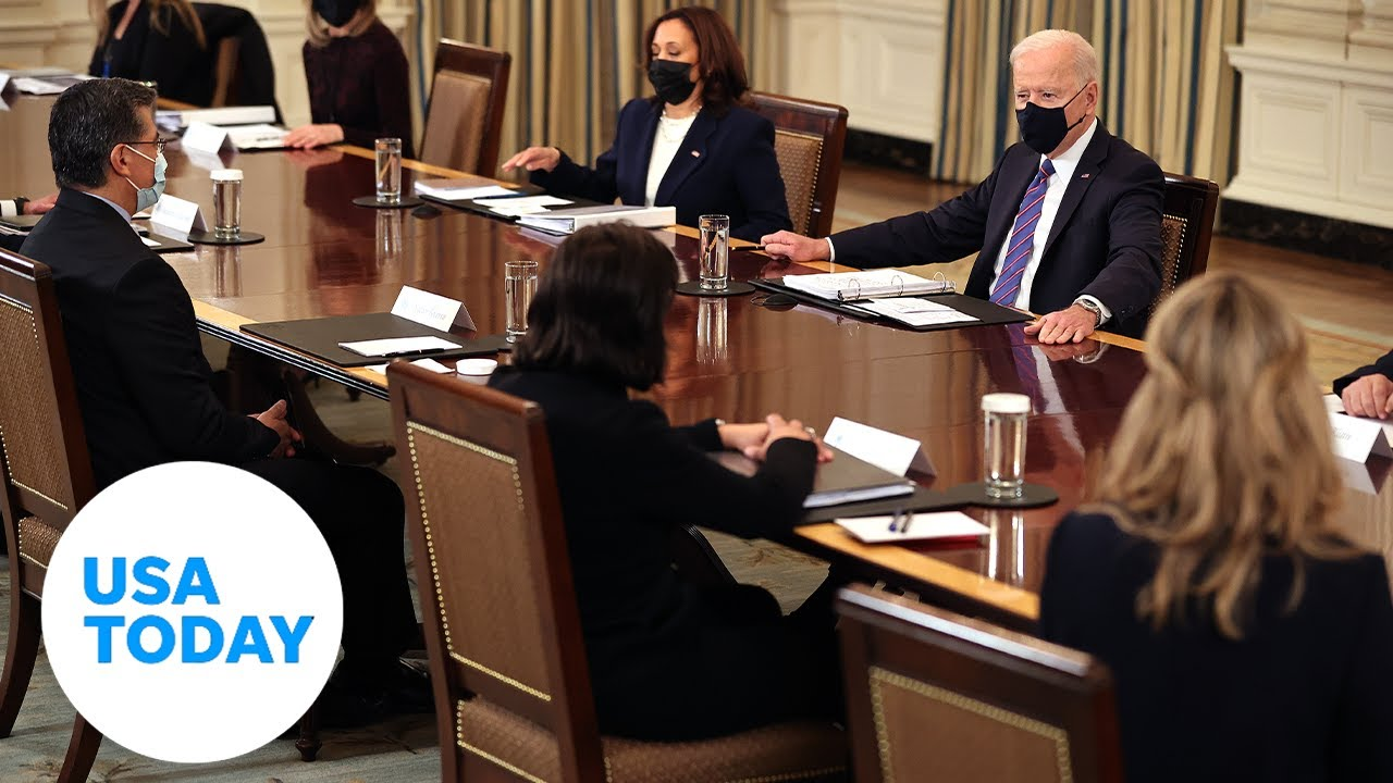 President Joe Biden holds a Cabinet meeting in the East Room | USA TODAY 5