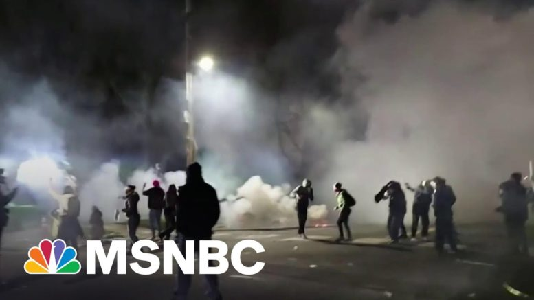 Protests Erupt In Minnesota After Fatal Police Shooting Of Black Man   Stephanie Ruhle   MSNBC 1