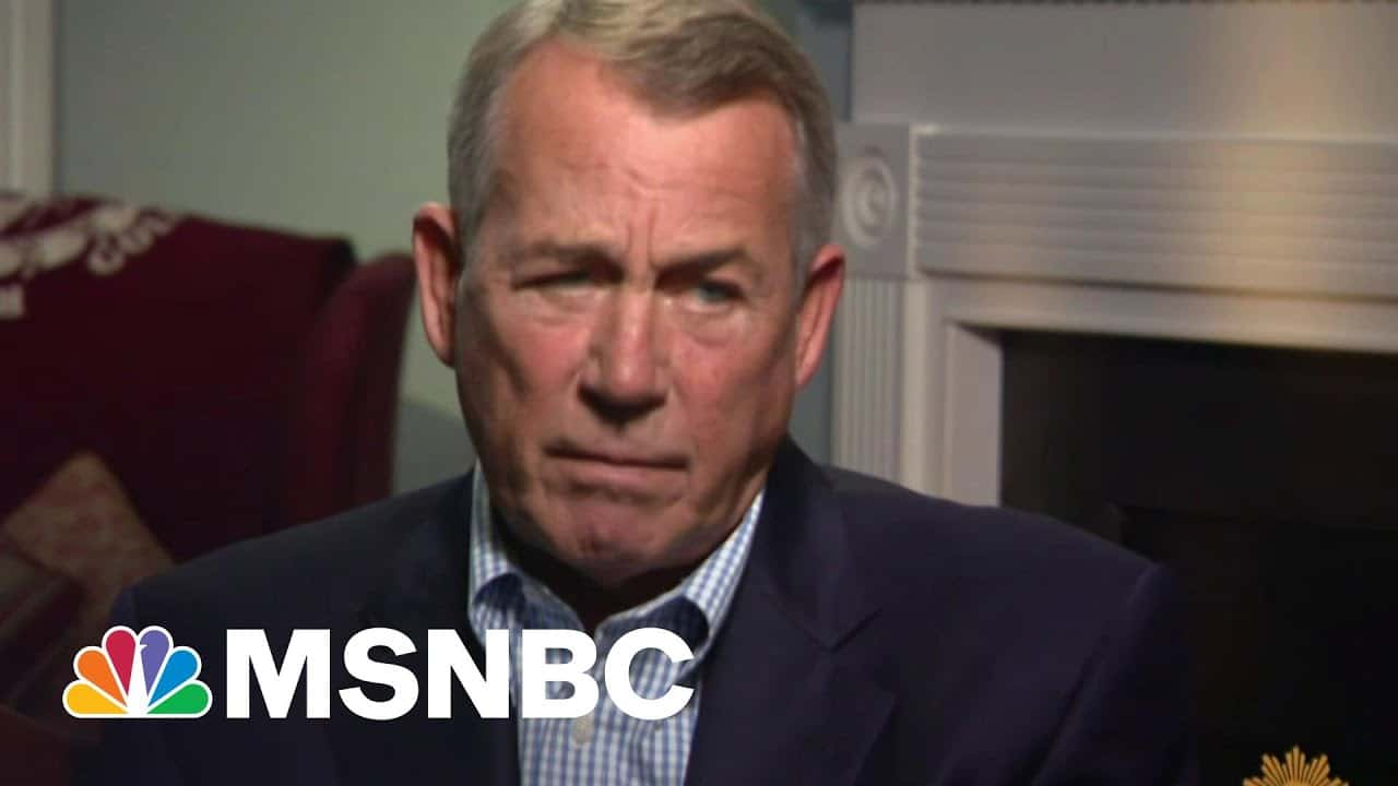 Boehner Torched After Blasting 'Lucifer' Cruz And GOP He Enabled   The Beat With Ari Melber   MSNBC 3