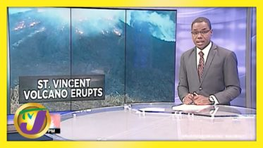Volcano Erupts in St. Vincent | TVJ News - April 9 2021 6