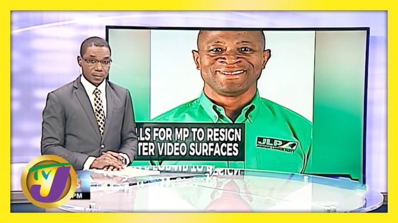 Calls for Westmoreland MP Caught on Viral Video to Resign in Jamaica | TVJ News - April 12 2021 1