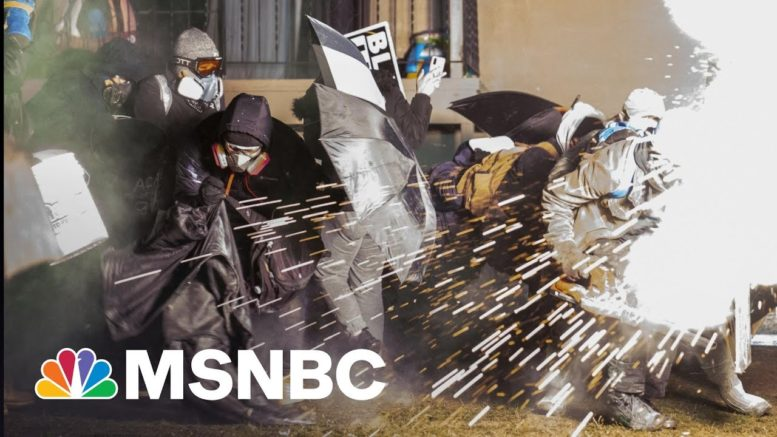Daunte Wright Protesters Clash With Police Ahead Of Curfew | The 11th Hour | MSNBC 1