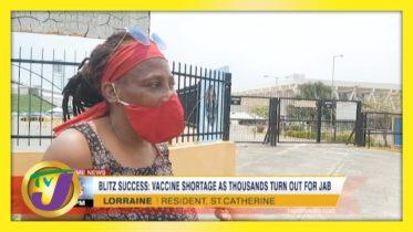 Vaccine Shortage as Thousands Turn Out Across Jamaica   TVJ News - April 13 2021 6