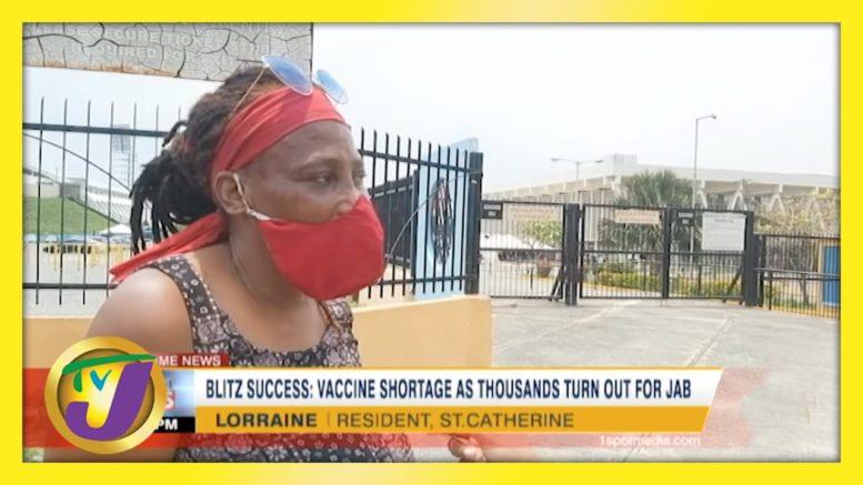 Vaccine Shortage as Thousands Turn Out Across Jamaica | TVJ News - April 13 2021 1