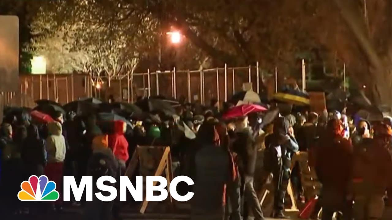 Protesters See Double Standard In Lack Of Murder Charge For Cop In Wright Killing | Rachel Maddow 5