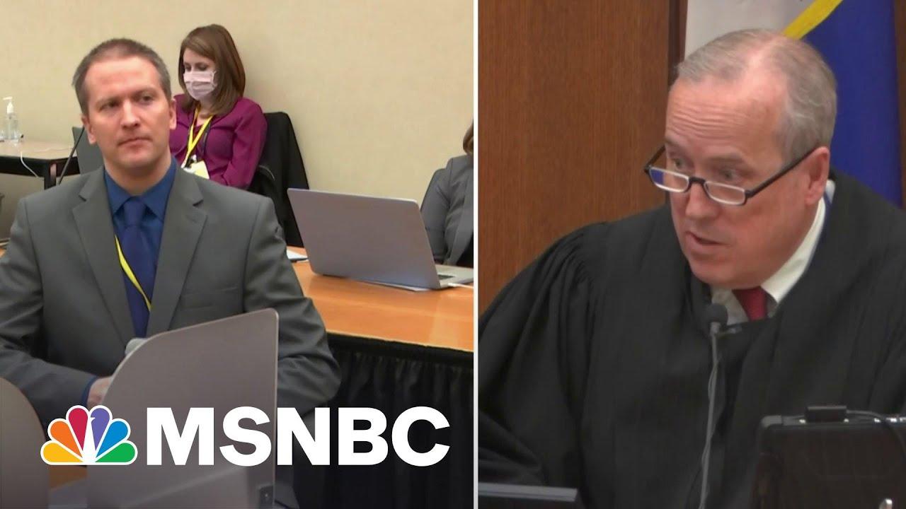 Derek Chauvin Tells Court He Will Not Testify In Trial, Invokes 5th Amendment Right   MSNBC 4