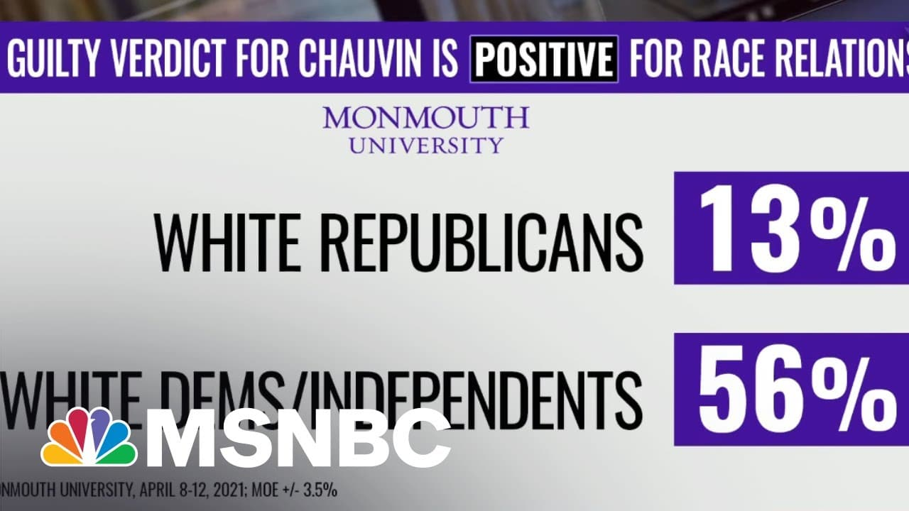 Polls Show Partisan Divide On Impact Of 'Guilty' Verdict In Chauvin Trial | The ReidOut | MSNBC 8